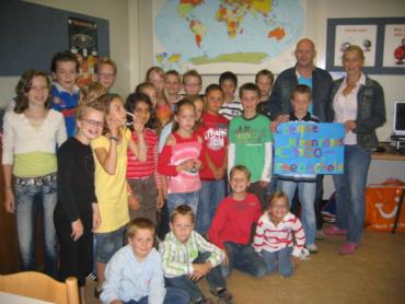 Theo Scholte school rent voor Kiran Fonds